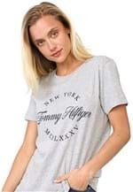 Ficha técnica e caractérísticas do produto Camiseta Tommy Hilfiger Lívia Cinza