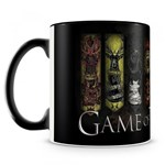Ficha técnica e caractérísticas do produto Caneca Personalizada Game Of Thrones Casas (Preta) - Amocanecas