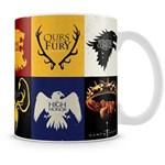 Ficha técnica e caractérísticas do produto Caneca Personalizada Porcelana Familias Game Of Thrones