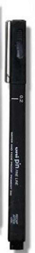 Ficha técnica e caractérísticas do produto Caneta Nanquim Uni Pin 0.2 Preta Uniball