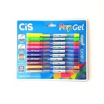Caneta Pop Gel Neon + Glitter Cis 10 Cores