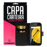Capa Carteira Preta para Motorola Moto e - Underbody