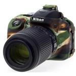 Ficha técnica e caractérísticas do produto Capa de Silicone para Nikon D5300 - Camuflada