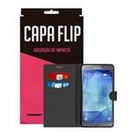 Capa Flip Preta Para Samsung Galaxy S5 New Edition - Underbody