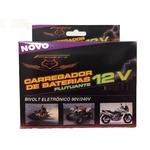 Ficha técnica e caractérísticas do produto Carregador Bateria de Moto 12V Inteligente Flutuante Bivolt