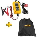 Ficha técnica e caractérísticas do produto Carregador Inteligente Bateria Bivolt + Bolsa - para Moto - Vonder 12v CIB003