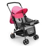 Carrinho de Bebê Berço com Bandeja Nap Weego Rosa - 4013