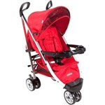 Carrinho de Bebê com Berço Cosco Umbrella Deluxe Plus Vermelho Tabasco