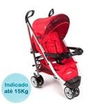 Ficha técnica e caractérísticas do produto Carrinho de Bebê Cosco Umbrella Deluxe - Vermelho Tabasco
