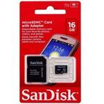 Ficha técnica e caractérísticas do produto Cartão de Memória 16 GB Sandisk