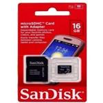 Ficha técnica e caractérísticas do produto Cartao de Memoria 16gb Sandisk