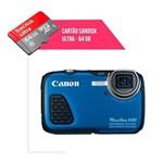 Cartão de Memória 64gb Ultra para Câmera Canon Powershot D30