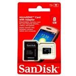 Ficha técnica e caractérísticas do produto Cartao de Memoria 8gb Sandisk