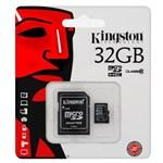 Ficha técnica e caractérísticas do produto Cartao de Memoria 32gb Micro Sd Kingston