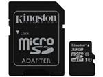 Cartão de Memória 32GB Micro SDHC Classe 10 - com Adaptador Kingston SDC10G2