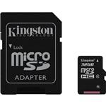 Cartão de Memória Kingston 32GB MicroSDHC com Adaptador SD (classe 4)