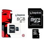 Ficha técnica e caractérísticas do produto Cartão de Memória Kingston Micro SD 8 GB