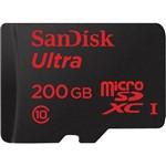 Ficha técnica e caractérísticas do produto Cartão de Memória Micro SD 200GB 90mb/s Ultra com Adaptador SD - Sandisk