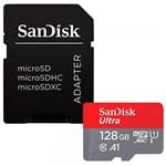 Cartão Micro Sd 128GB Ultra Classe 10 com Adapt - Sandisk