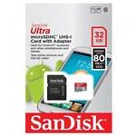 Ficha técnica e caractérísticas do produto Cartão de Memória Sandisk 32Gb