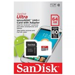 Cartão Micro Sdxc 64Gb Classe 10 80Mb/S Sandisk