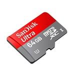 Cartão MicroSDXC Sandisk 64GB Classe 10 Ultra 80MB/s