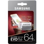 Cartao Samsung Micro Sd Evo Plus 64gb 100mbs Lacrado +adapt