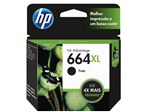 Cartucho de Tinta HP Preto 664 XL Original P/ - HP 2136 2676 3776 5076 5276
