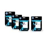 Ficha técnica e caractérísticas do produto Cartucho Hp 82 Kit 4 Cores Xl