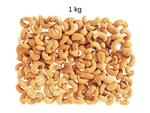 Ficha técnica e caractérísticas do produto Castanha de Caju Torrada e Salgada (W1) - 1 Kg