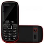 """Ficha técnica e caractérísticas do produto Celular Alcatel OT 316G, Dual Chip, Mp3, Rádio Fm, Tela 1.8"""" Preto /Vermelho"""