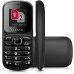 Celular Alcatel OT-217 Desbloqueado. Preto. Dual Chip e Memória Interna 1.8MB