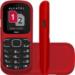 Celular Alcatel OT-217 Desbloqueado. Vermelho. Dual Chipe Memória Interna 1.8MB