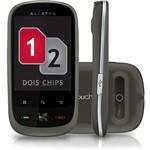 Celular Alcatel OT-890. Desbloqueado. Preto. Dual Chip - Android 2.2. Câmera de 2.0 MP. Wi Fi e Memória Interna 25MB