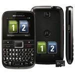 Celular Desbloqueado Claro Motorola EX109 Motokey Mini Cinza C/ Câmera 2MP, Dual Chip, Mp3, FM, Bluetooth, Fone de Ouvido e Cartão de 2GB