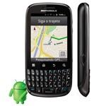 Celular Desbloqueado Motorola Spice Key Xt316 com Câmera 3mp, Android, Qwerty, Mp3, Fm, 3g