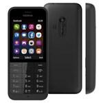 Celular Desbloqueado Nokia Asha 220 Preto com Dual Chip, Câmera 2MP, Bluetooth, Rádio FM, MP3 e Fone de Ouvido - Tim