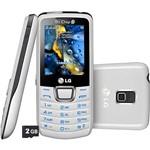 Celular LG A290 Desbloqueado Oi Prata - Tri Chip Memória Interna 4MB e Cartão de Memória 2GB