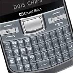 Celular LG C199 Desbloqueado Tim, Cinza, Dual Chip, Câmera 2.0MP, Wi-Fi, Memória Interna 50MB e Cartão 2GB