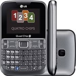 Celular LG C299 Desbloqueado. Prata. Câmera VGA. Quad Chip. Qwerty
