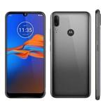 Ficha técnica e caractérísticas do produto Celular Motorola Moto E6 Plus 64 GB 4GB Cinza Metálico Câmera Dupla 13MP + 2MP