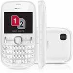 Celular Nokia Asha 200 Desbloqueado Oi. Branco. Dual Chip. Câmera de 2.0MP. Memória Interna 10MB e Cartão 2GB
