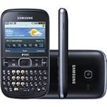 Celular Samsung Ch@t 333 Duos, Desbloqueado, Preto, Dual Chip, Câmera 2MP, Teclado Querty, MP3 Player, Rádio FM e Bluetooth