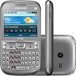 Celular Samsung Ch@t 333 Trios S3333, Desbloqueado, Prata, Trial Chip, Câmera 2MP, Teclado Querty, MP3 Player, Rádio FM e Bluetooth