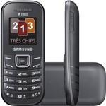 Celular Tri Chip Samsung E1203 - Rádio FM