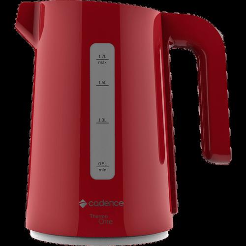 Ficha técnica e caractérísticas do produto Chaleira Elétrica Cadence, Thermo One Colors, 1.7 Litros, Vermelha - CEL381 - 220V