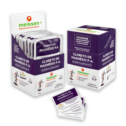 Ficha técnica e caractérísticas do produto Cloreto de Magnésio | Display com 10 Sachês