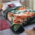Cobertor Casal Dyuri Cortezo 1 Peça Microfibra Jolitex Verde