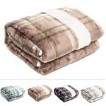 Ficha técnica e caractérísticas do produto Cobertor / Manta de Microfibra Queen Escócia 100% Poliéster - Corttex