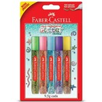 Cola Glitter 5 Cores 9,5g Cada Faber Castell